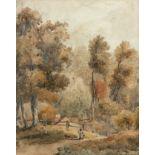 David Cox Snr. RWS, OWS (1783-1859) A wood near Birmingham Watercolour 24 x 19.5cm Provenance: