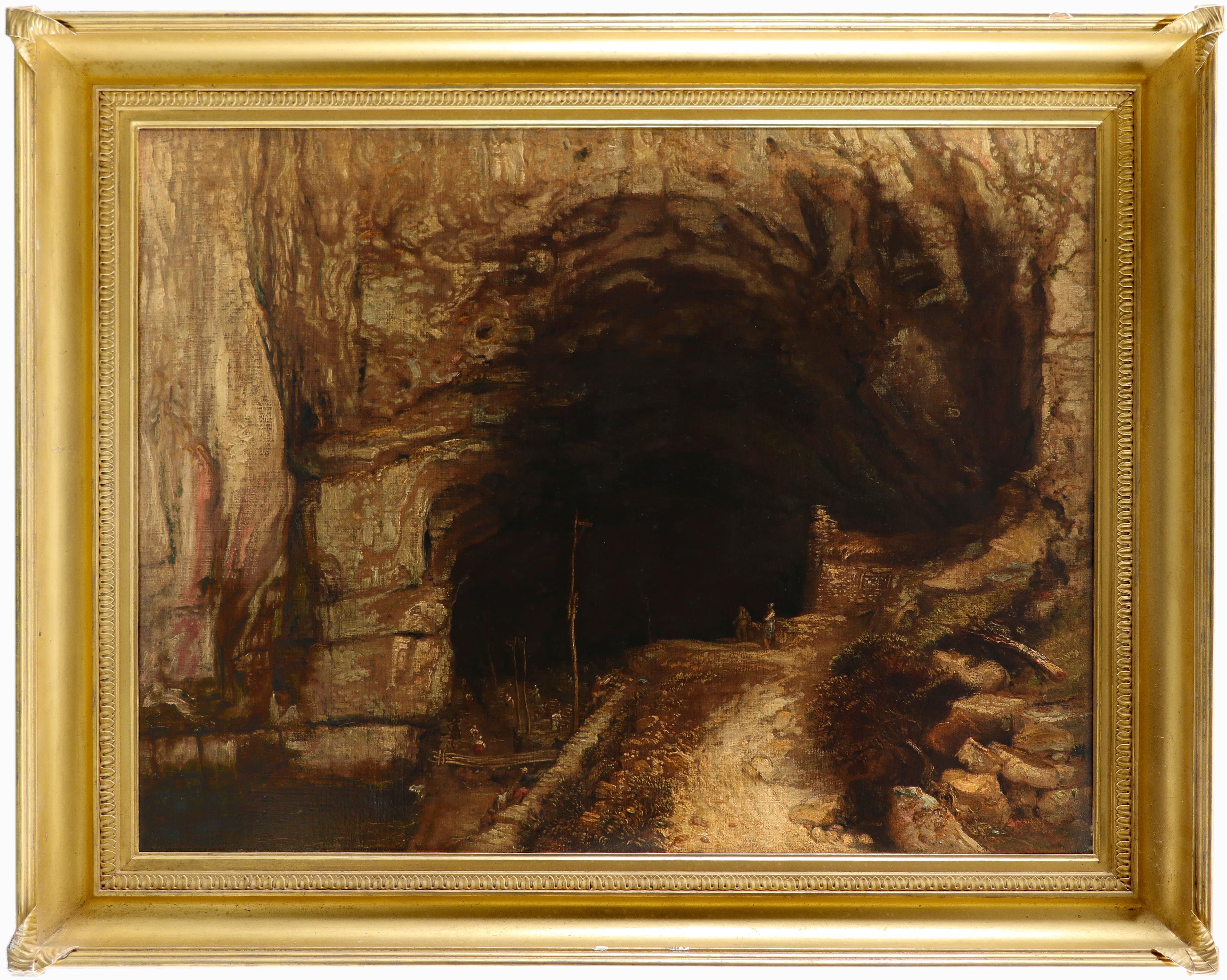 James Ward RA (1769-1859) Peak Cavern, Castleton, Derbyshire Signed with monogram and dated 1835 - Image 2 of 3