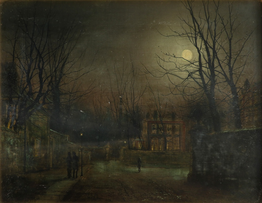 W. Morgan (Late 19th Century) Figures in a moonlit street Signed and dated W Morgan 1881 (lower