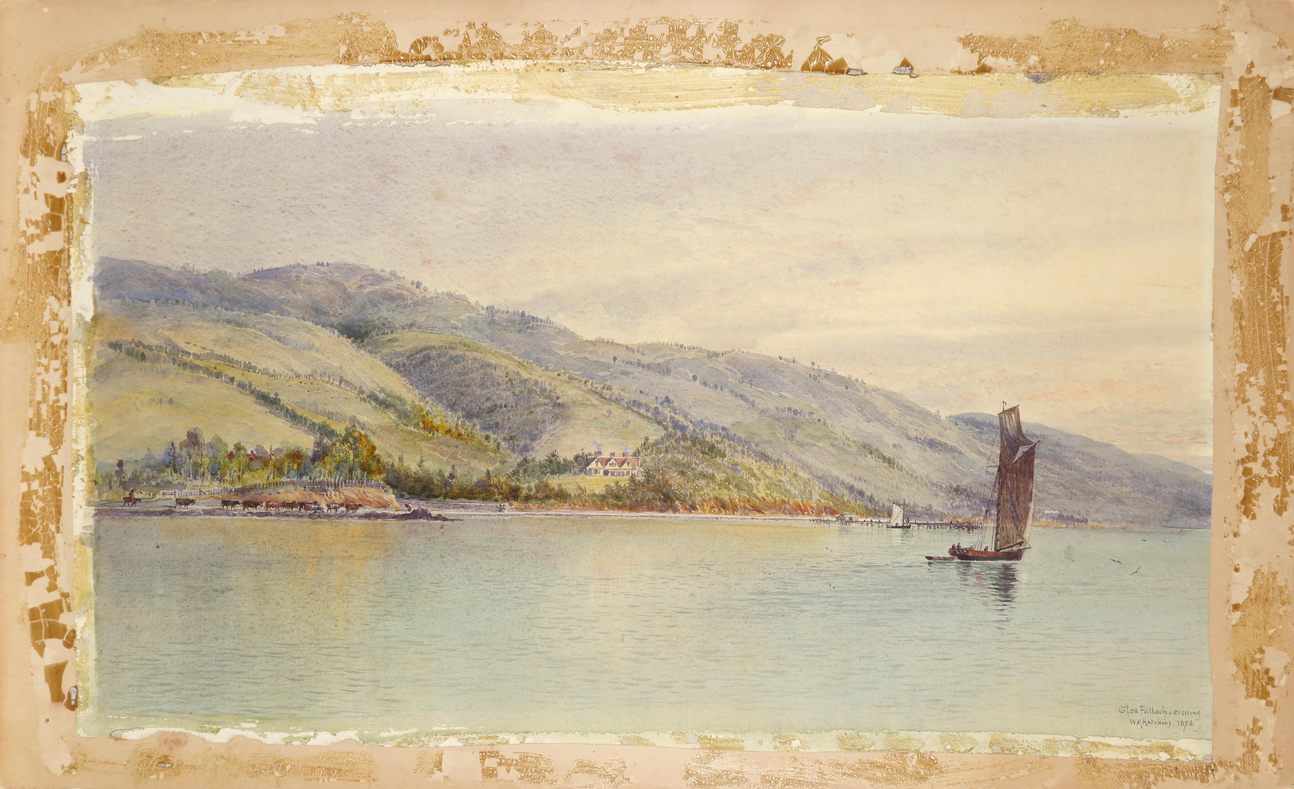 William Matthew Hodgkins (1833-1898) Glen Falloch - evening; Glen Falloch Two, the former signed - Image 2 of 6