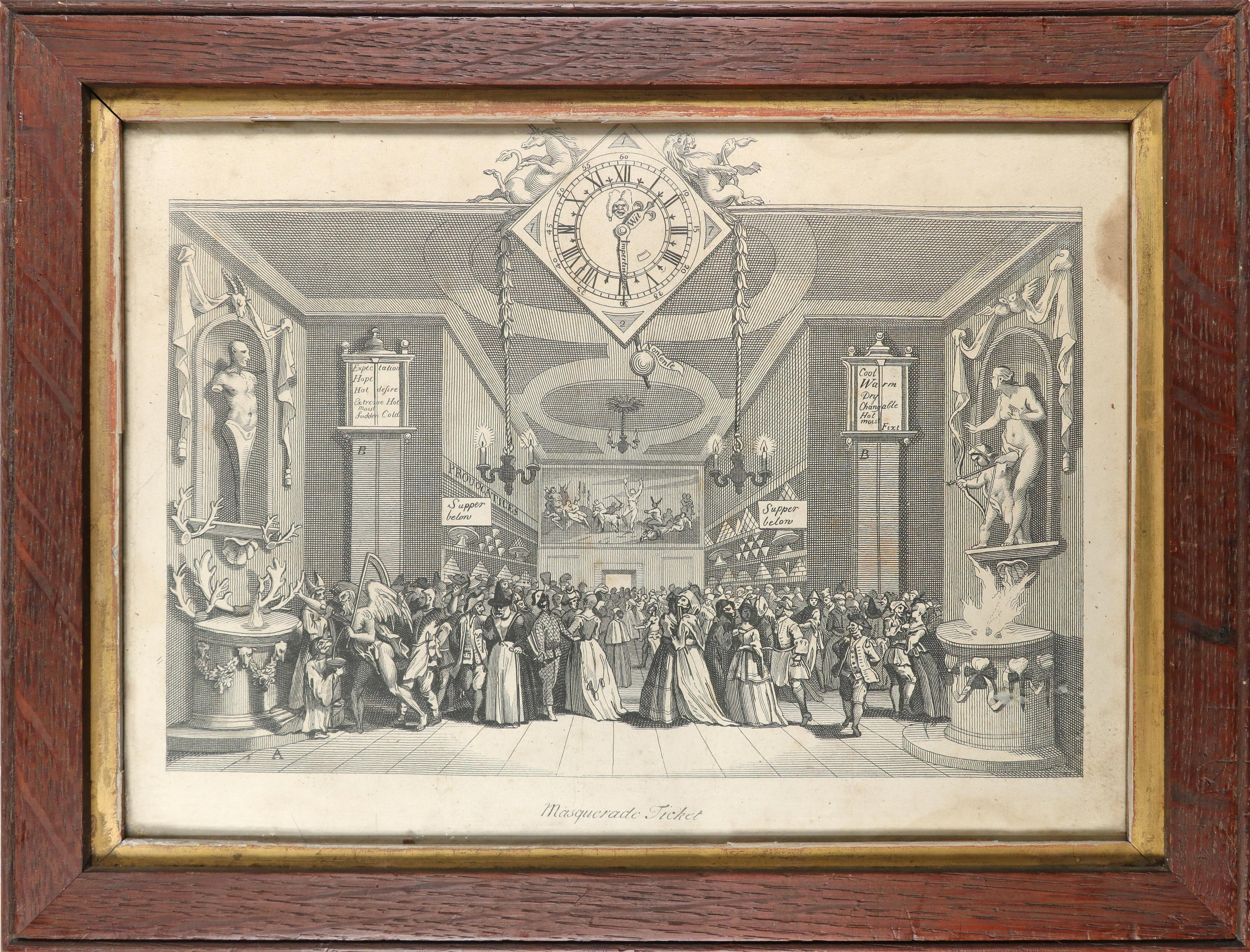 English School 1754 The Charming Brute: A Satire on Handel Etching 33.2 x 23.5cm; 13 x 9¼in ( - Image 14 of 18
