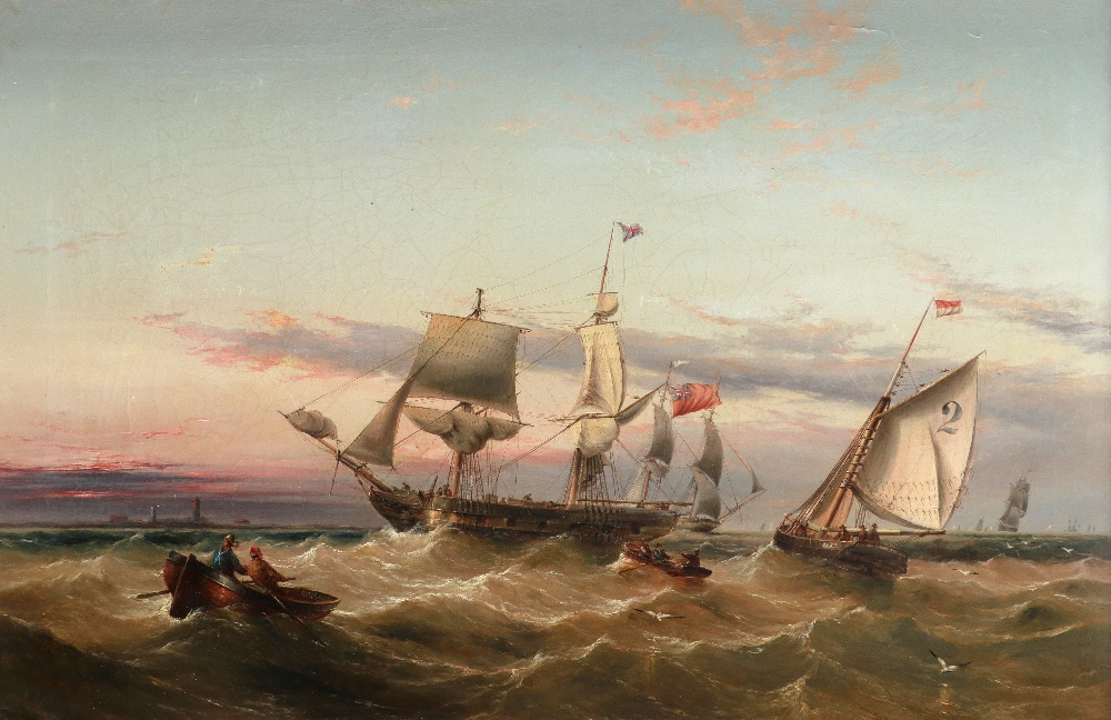 Henry Redmore (1820-1888) Picking up the pilot Signed H Redmore (lower left) Oil on canvas 58 x