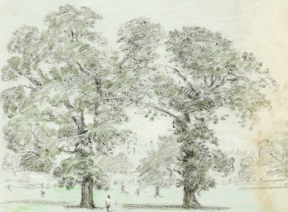 Thomas Clark (act.1827-1858) View of Kensington Gardens in 1839; and further views of London Nine, - Image 10 of 12