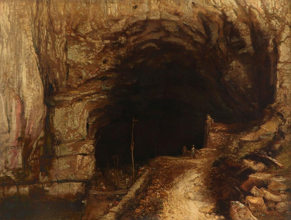 James Ward RA (1769-1859) Peak Cavern, Castleton, Derbyshire Signed with monogram and dated 1835