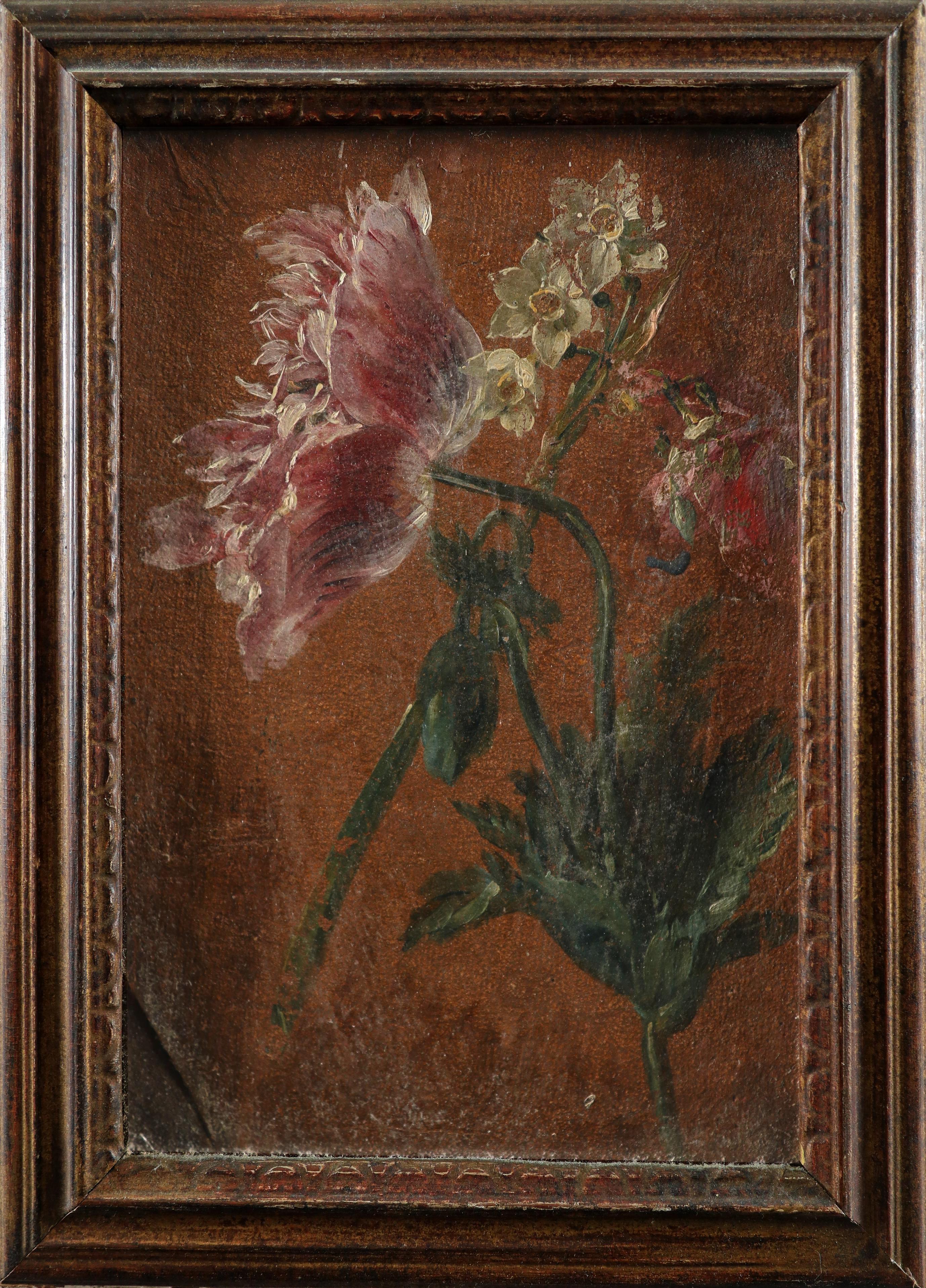 Dutch School 18th Century Study of lillies; Study of peonies A pair, both oil on canvas Each 26 x - Image 5 of 6