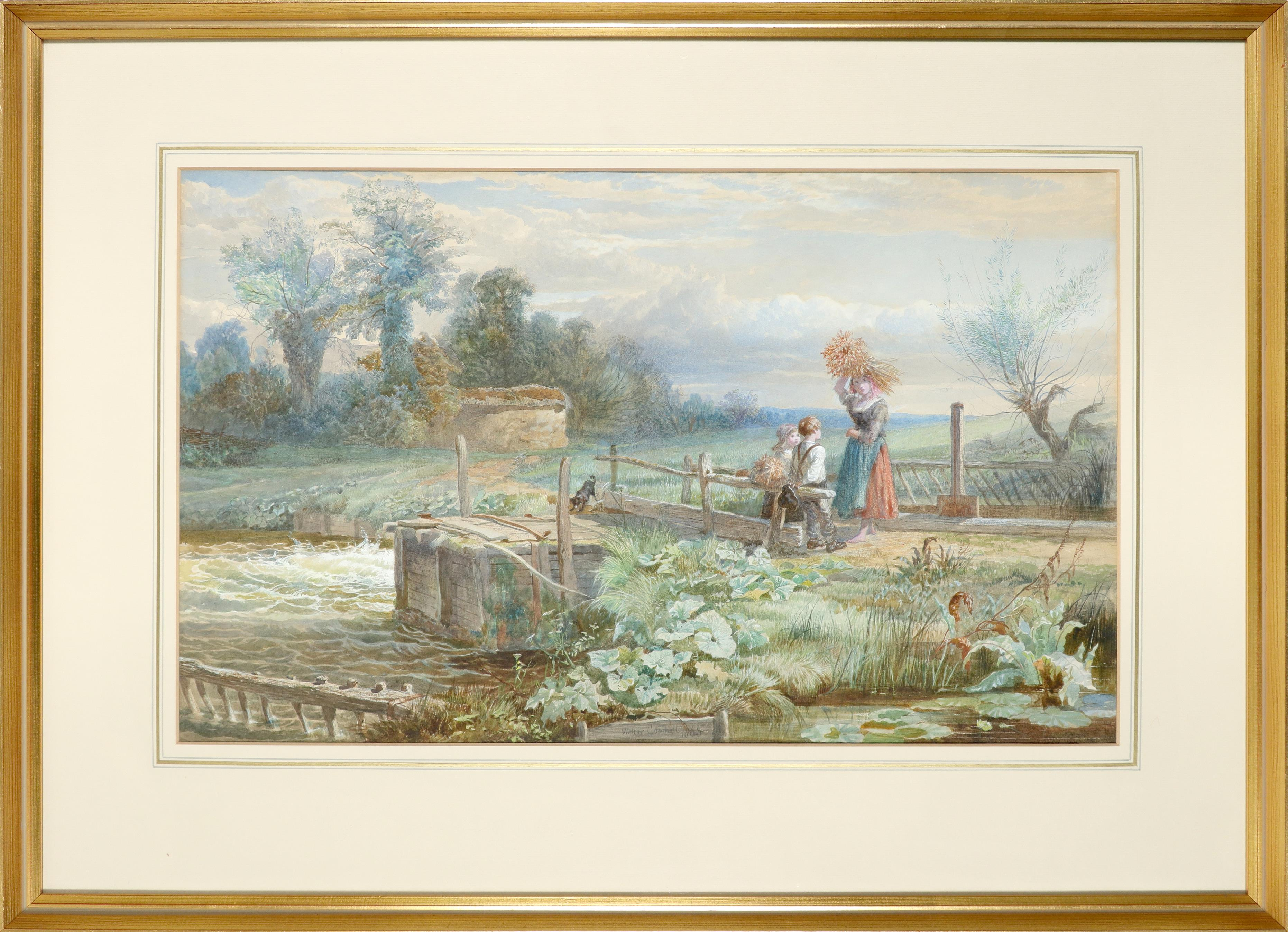 Walter Goodall (1830-1889) The little gleaners Signed and dated Walter Goodall 1863 (lower centre) - Image 2 of 3
