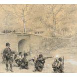 Édouard Detaille (French 1848-1912) Infanterie de Marine Signed EDOUARD DETAILLE/1887 (lower left)