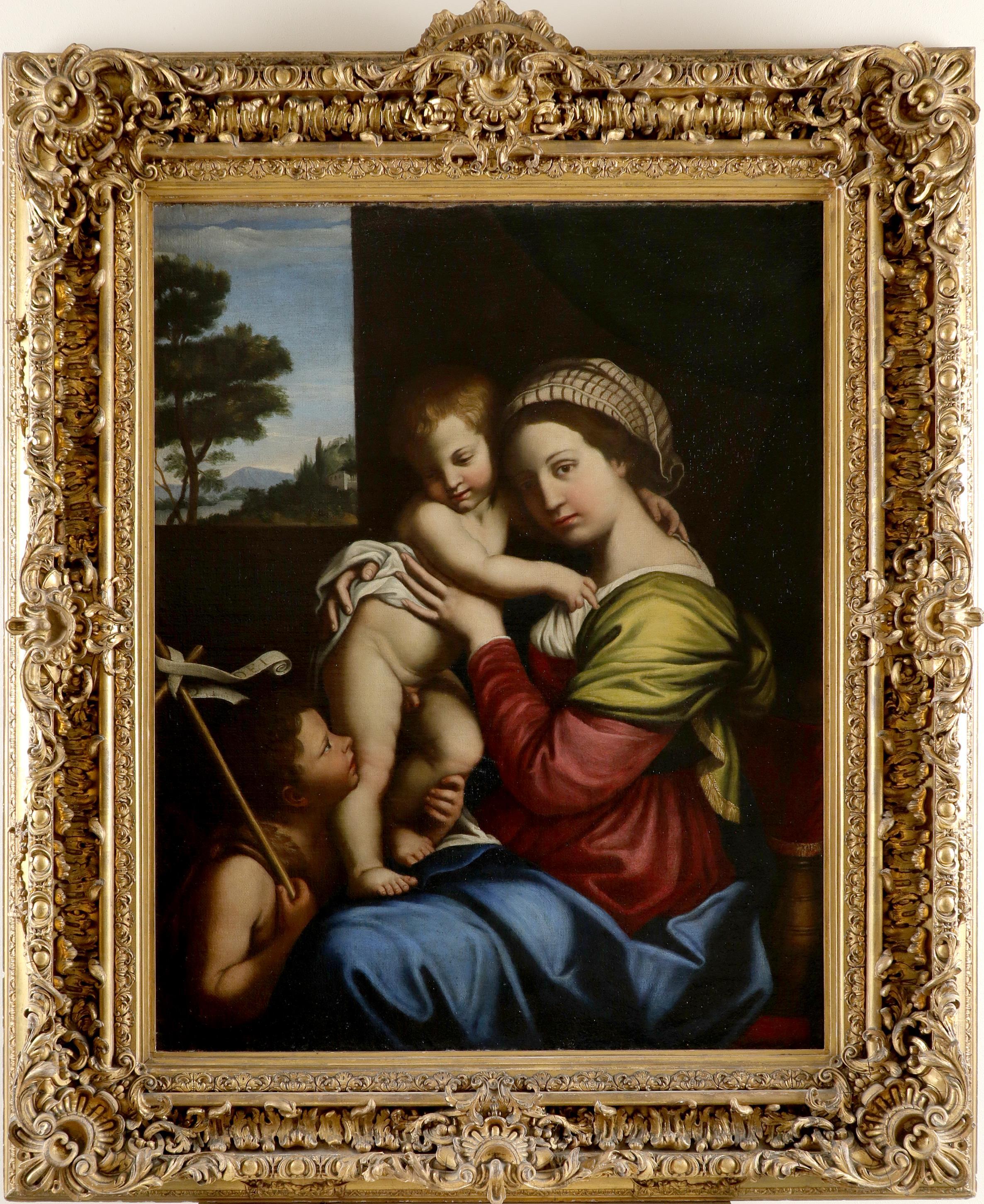 Circle of Giovanni Battista Salvi, Called Sassoferrato Virgin and Child with St. John the Baptist - Image 2 of 3