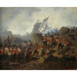 Gustav Otto Müller (German 1827-1922) British troops attacking the Redan, during the Siege of