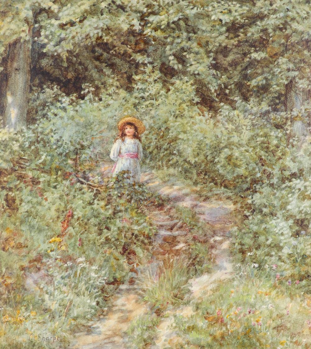 Caroline Sharpe, née Paterson (1856-1911) The Path Through the Wood Signed C. Sharpe (lower left)