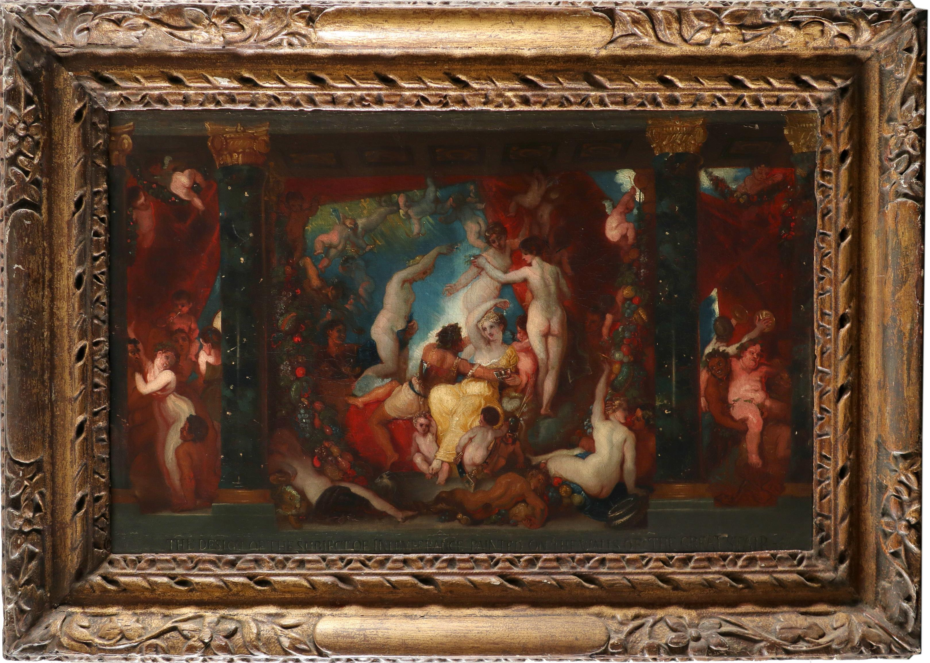 Thomas Stothard RA (1755-1834) Intemperance Inscribed THE DESIGN OF THE SUBJECT OF INTEMPERANCE - Image 2 of 3