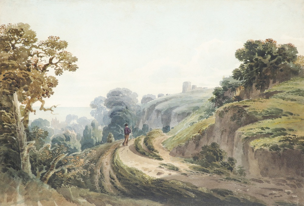 Circle of William Havell A view of Hastings from the west cliffs Watercolour and pencil 20.5 x 32.