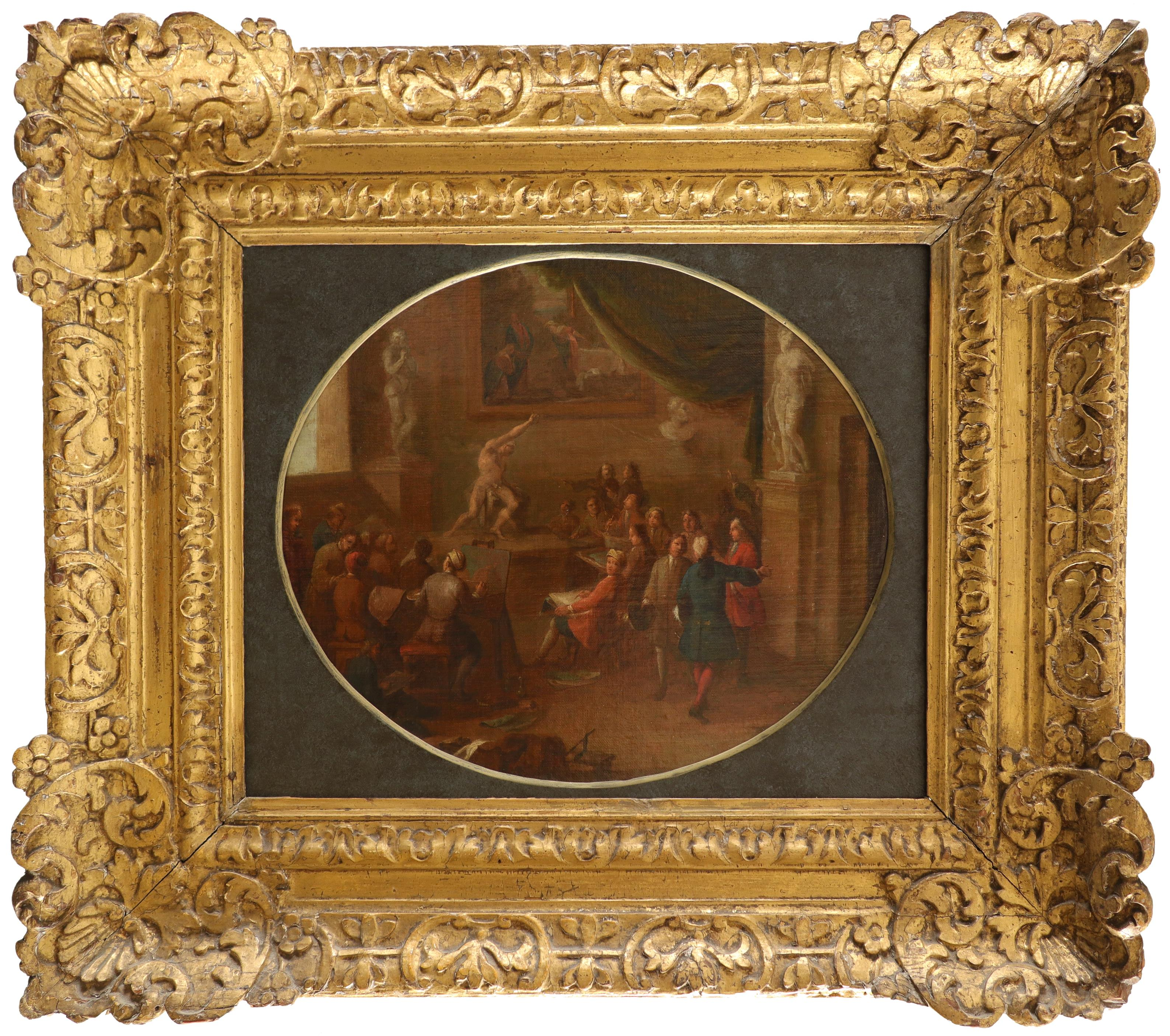 English School Early 18th Century A painting academy, possibly Sir Godfrey Kneller's academy in - Image 2 of 3