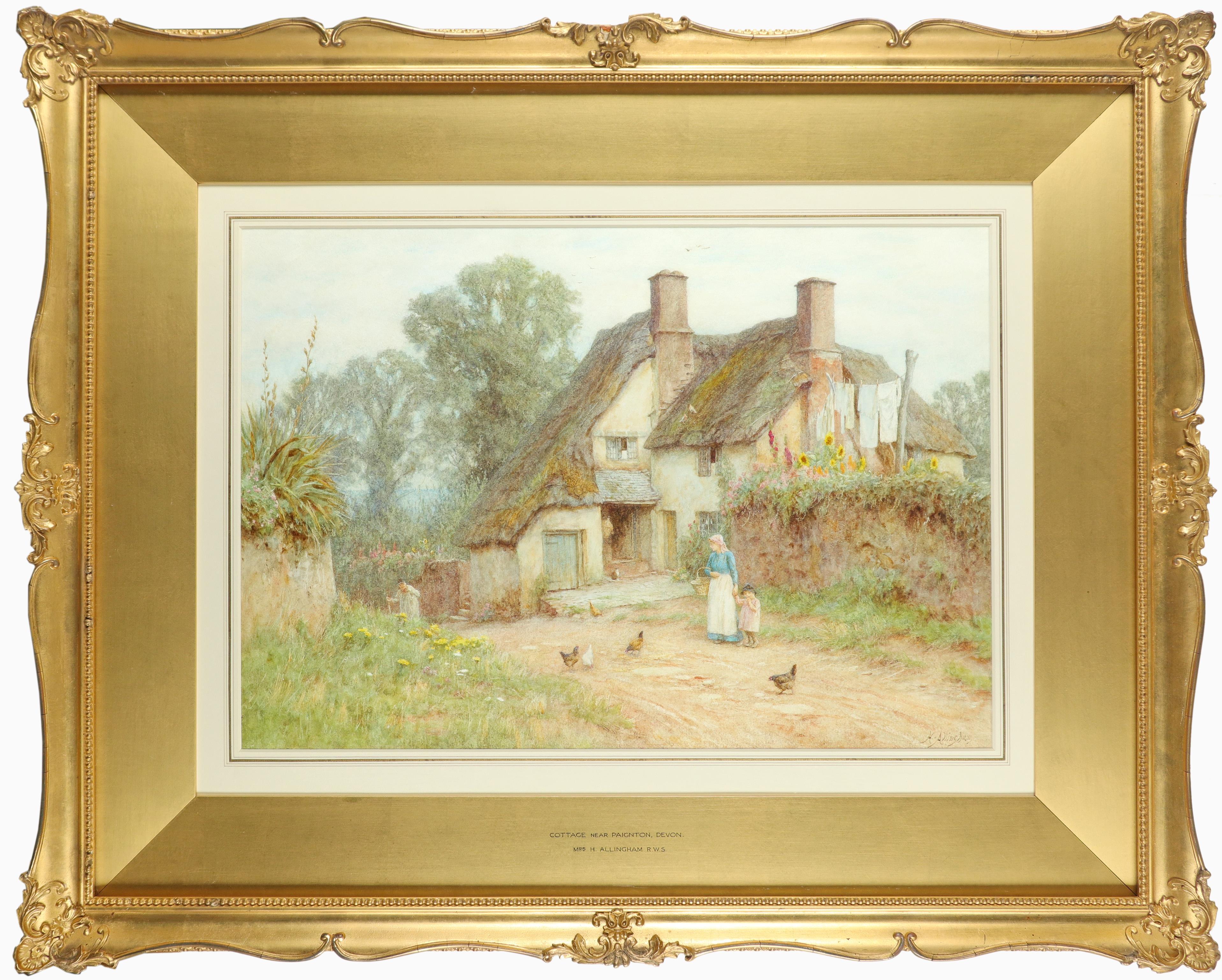 Helen Allingham RWS (1848-1926) Cottage near Paignton, Devon Signed H.Allingham (lower right) Pencil - Image 2 of 3