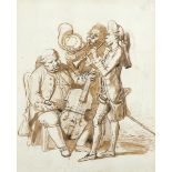 Henry Bunbury (1750-1811) Concerto Spirituale Pencil, pen and brown ink 22.4 x 18.1cm; 8¾ x 7in