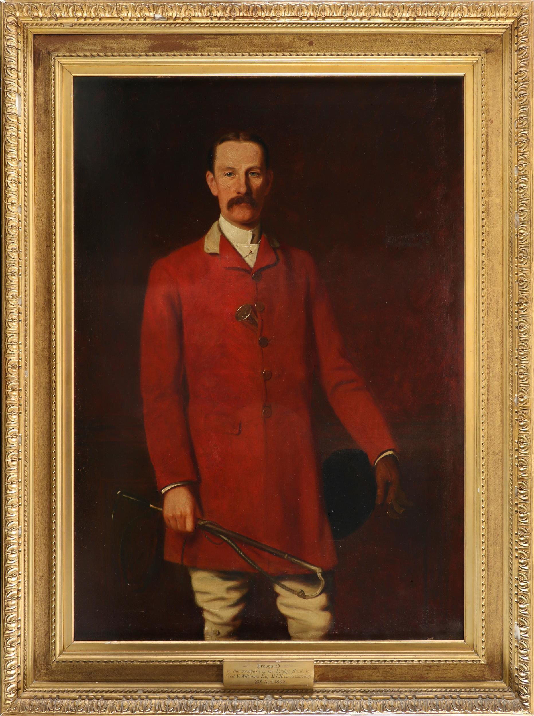 Joseph Sydney Willis Hodges (1828-1900) Portrait of Frederick Vernon Williams, Master of the - Image 2 of 3