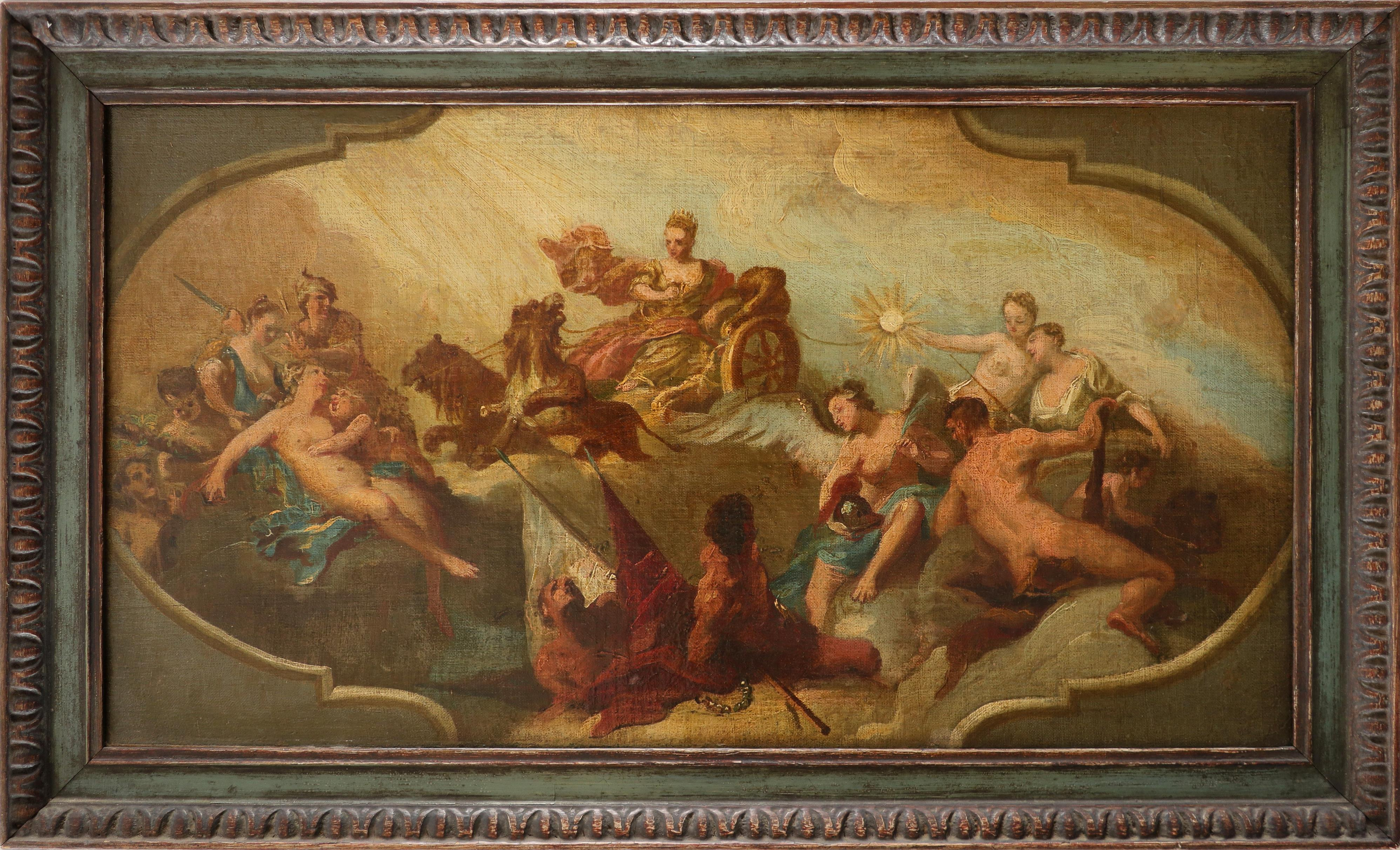 Francesco Sleter (Italian 1685-1775) The Triumph of Cybele Oil on canvas 33 x 60cm; 13 x 23½in - Image 2 of 3