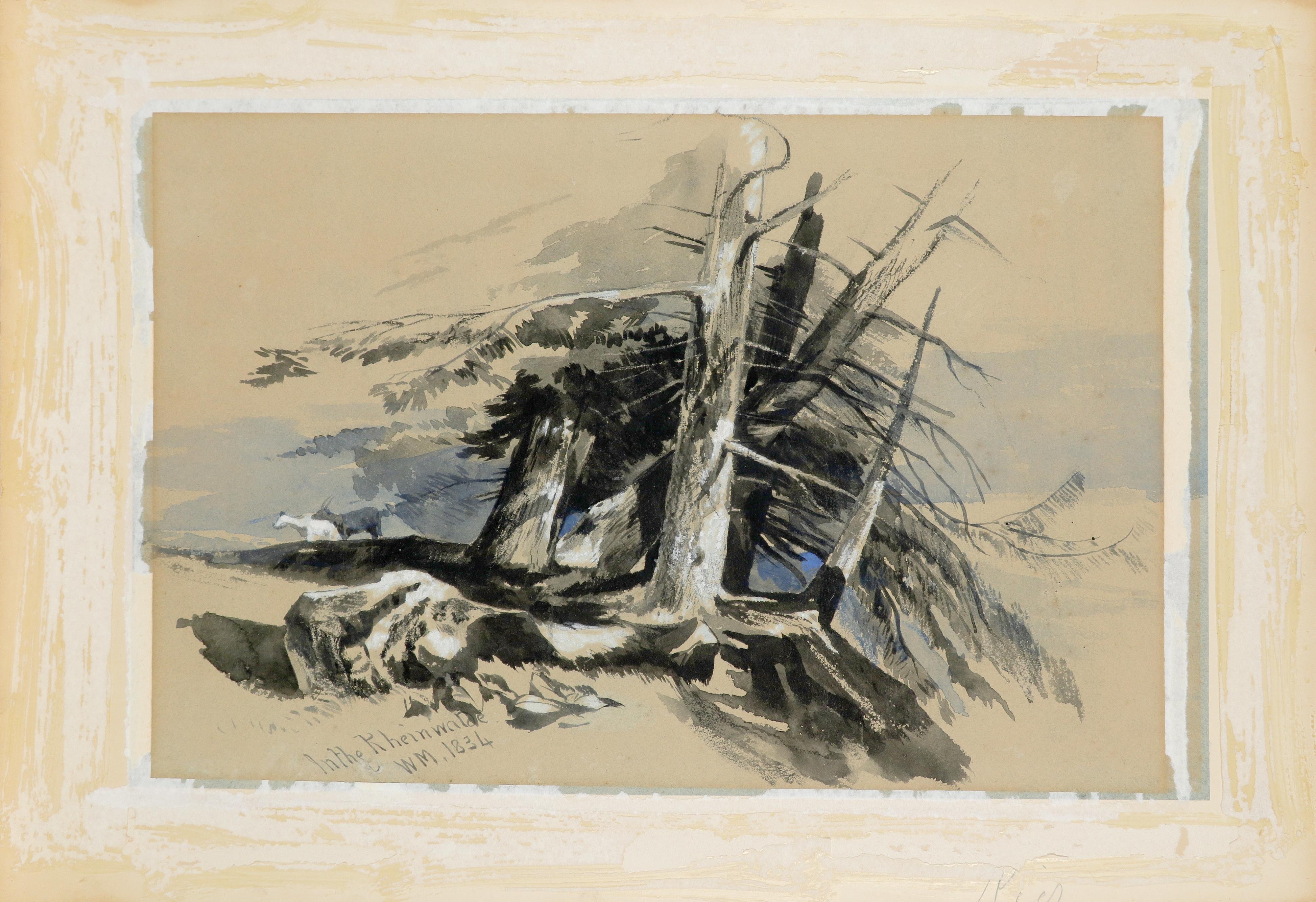 William James Müller (1812-1845) In the Rheinwalde Signed, inscribed and dated In the Rheinwalde / - Image 2 of 3