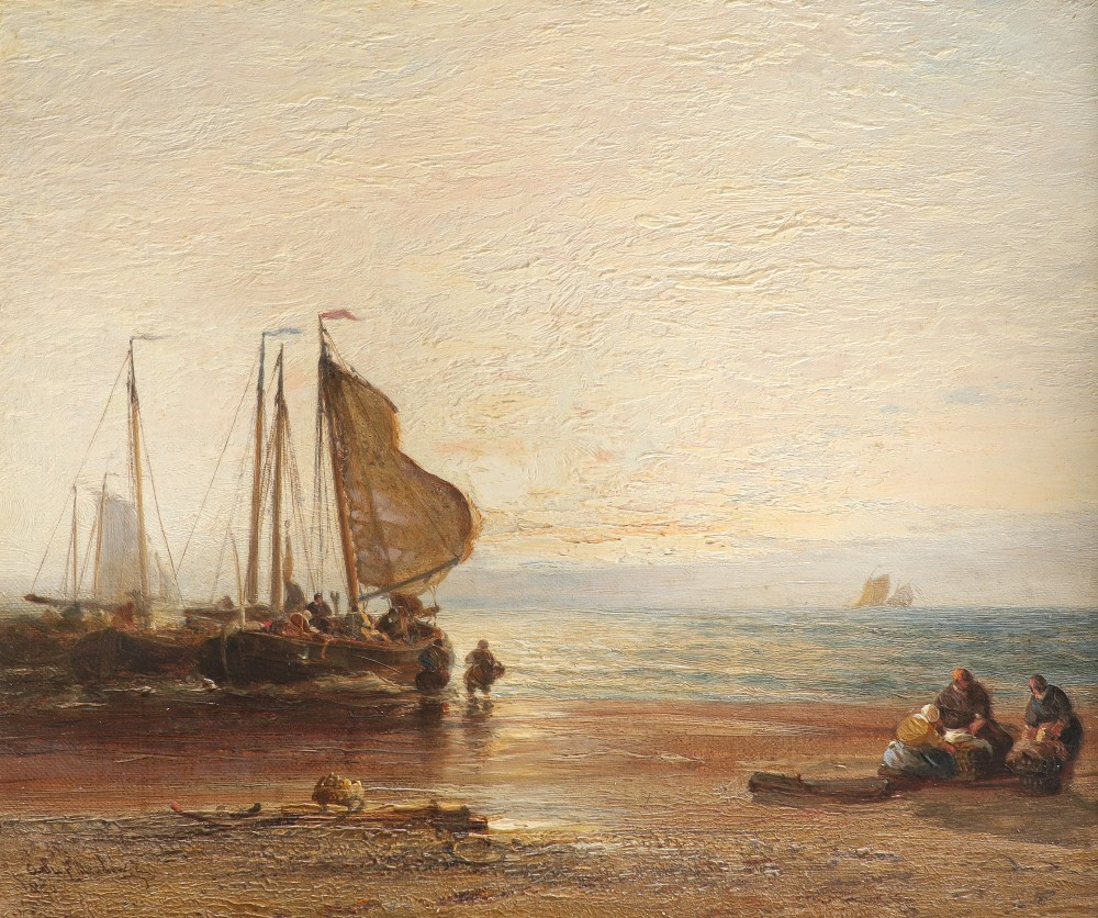 Arthur Joseph Meadows (1843-1907) On the Medway; Off the Dutch coast A pair, both signed and dated - Image 4 of 6