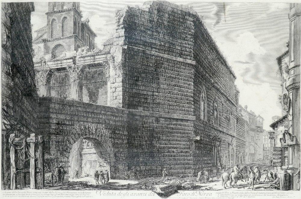 Giovanni Battista Piranesi (Italian 1720-1778) Veduta degli avanzi del Foro di Nerva (Wilton-Ely