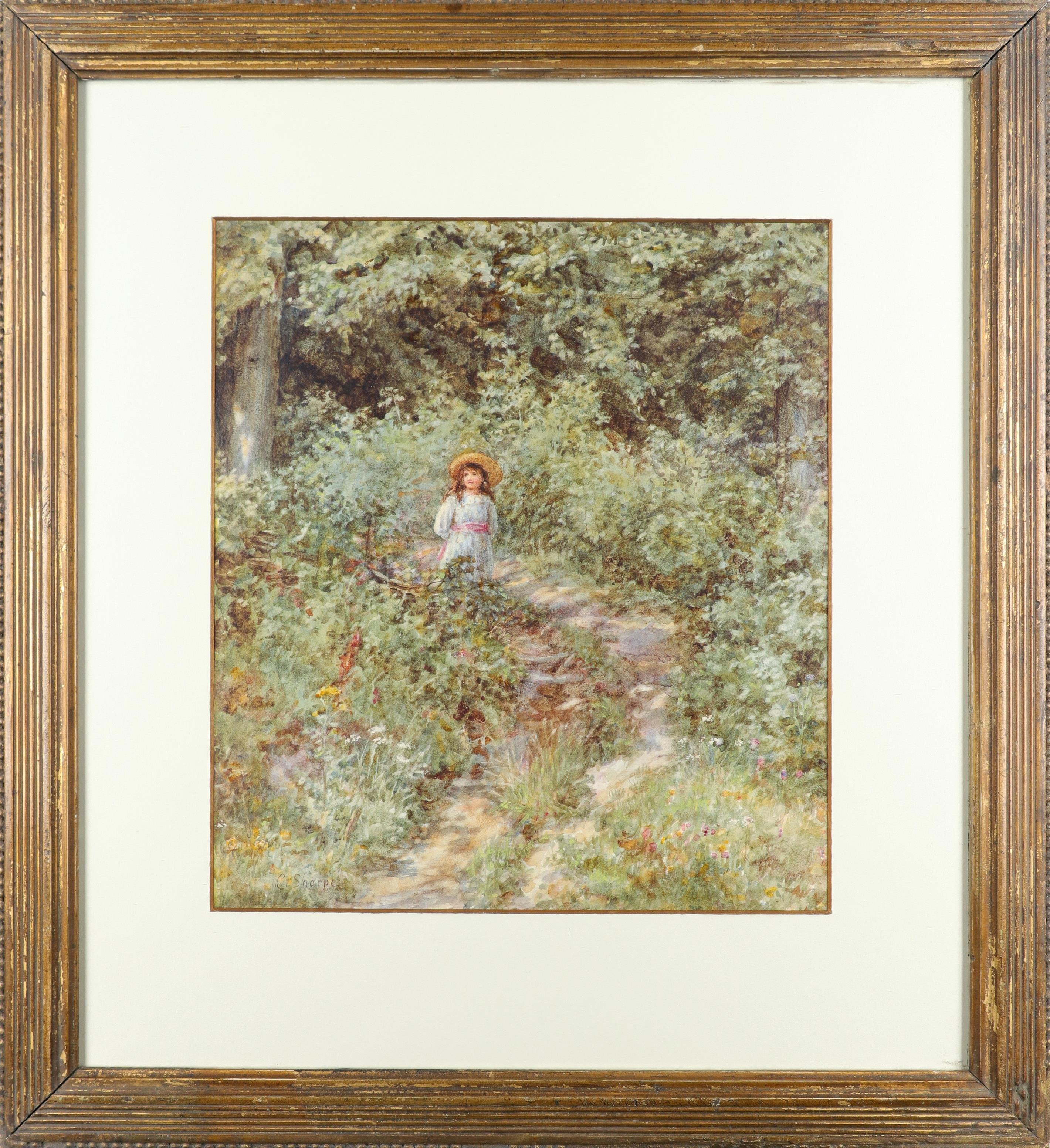 Caroline Sharpe, née Paterson (1856-1911) The Path Through the Wood Signed C. Sharpe (lower left) - Image 2 of 3