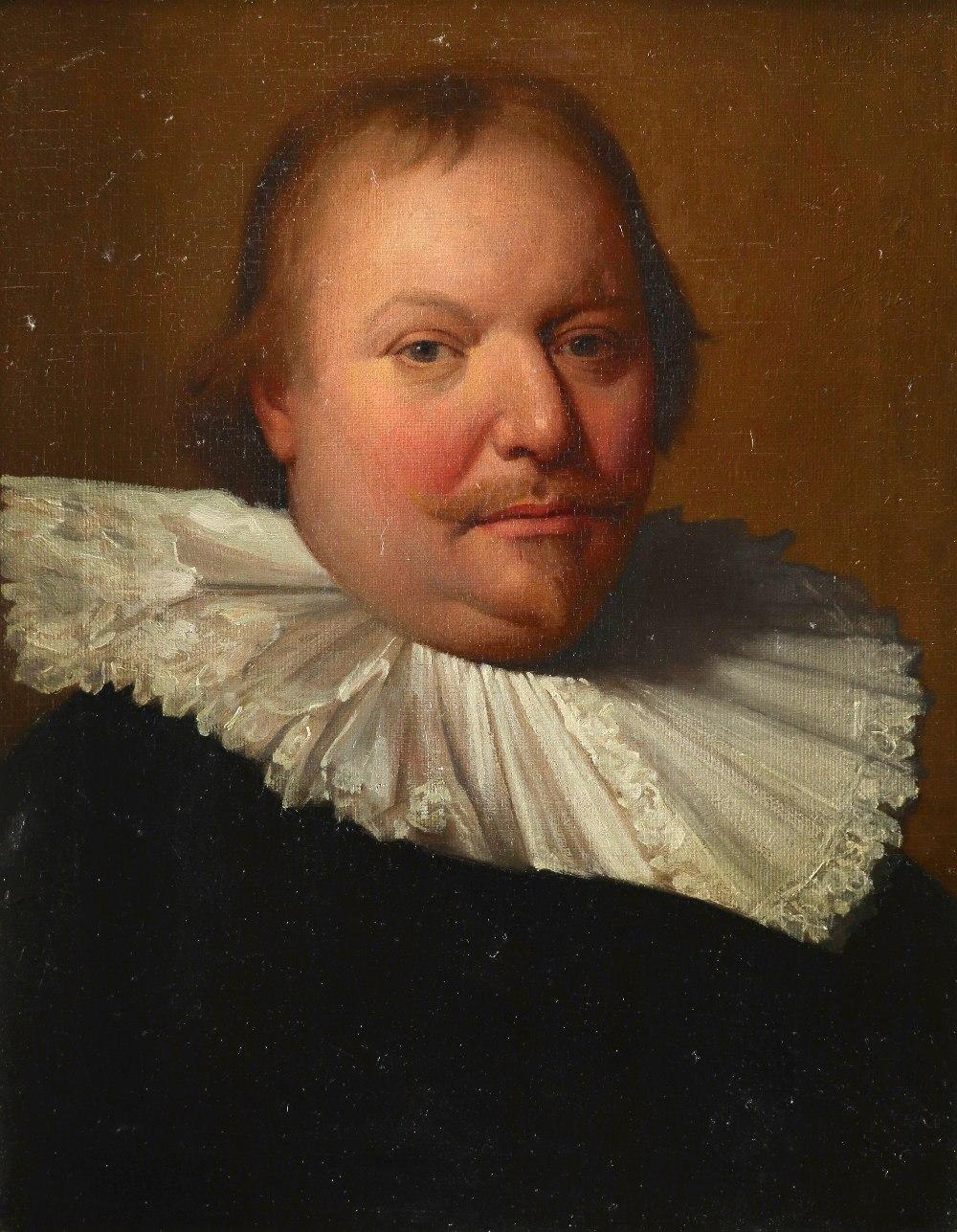 Follower of Michiel Jansz. van Mierevelt Portrait of a gentleman, bust-length, wearing a ruff Oil on