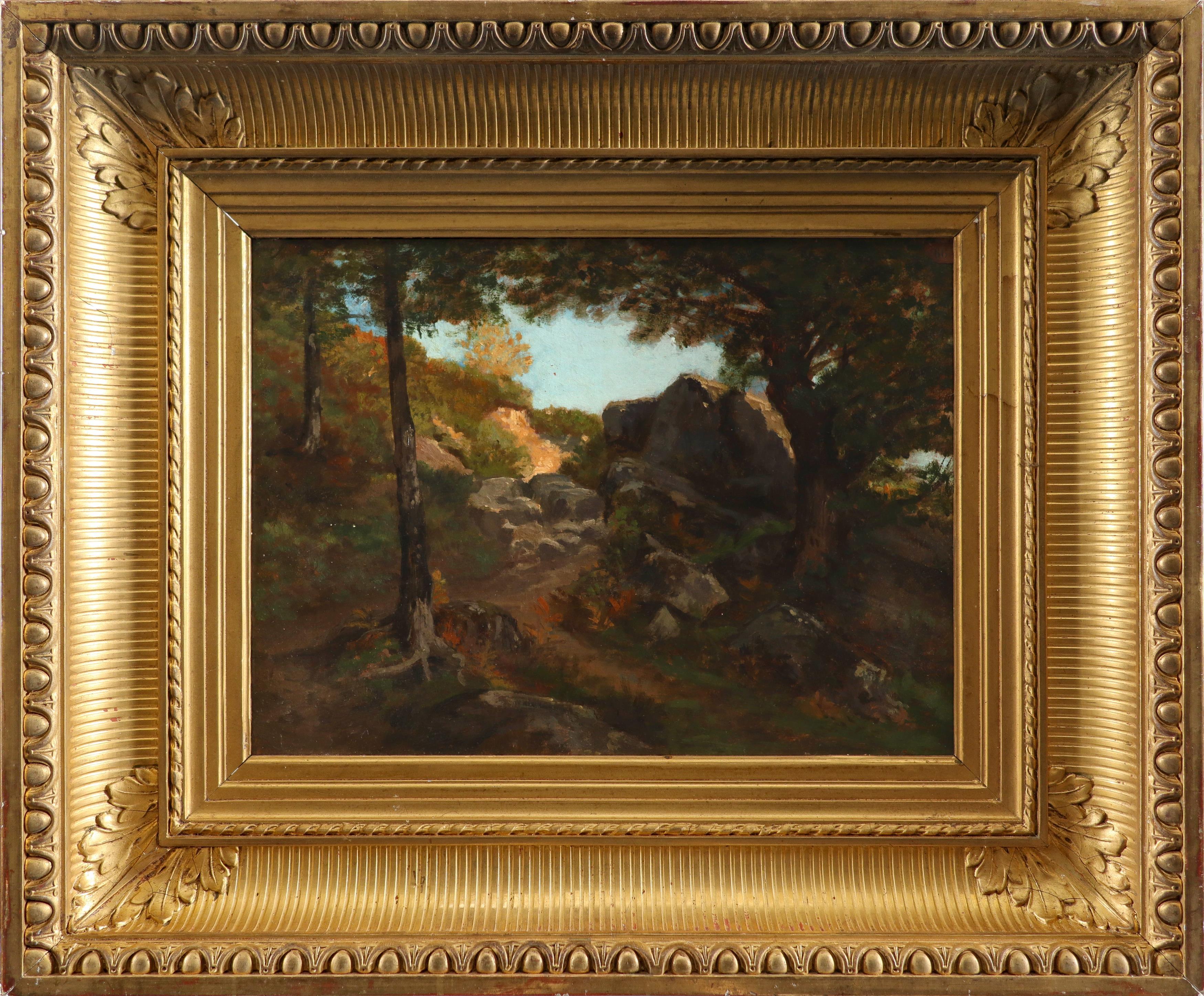 Auguste-Paul-Charles Anastasi (French 1820-1889) Sentier dans les Rochers à Pont-Aven, Bretagne - Image 2 of 3