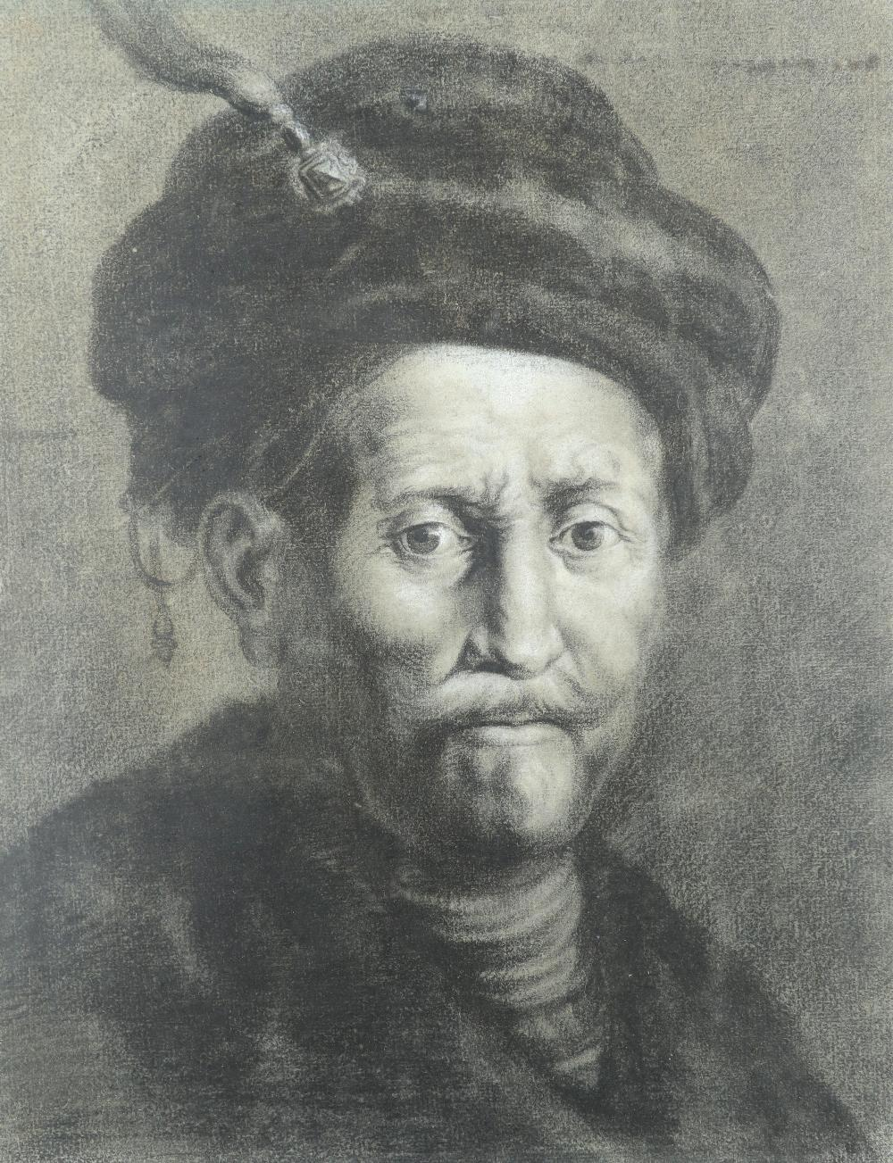 Thomas Worlidge (1700-1766) after Rembrandt van Rijn (Dutch 1606-1669) Bust of a man in a turban