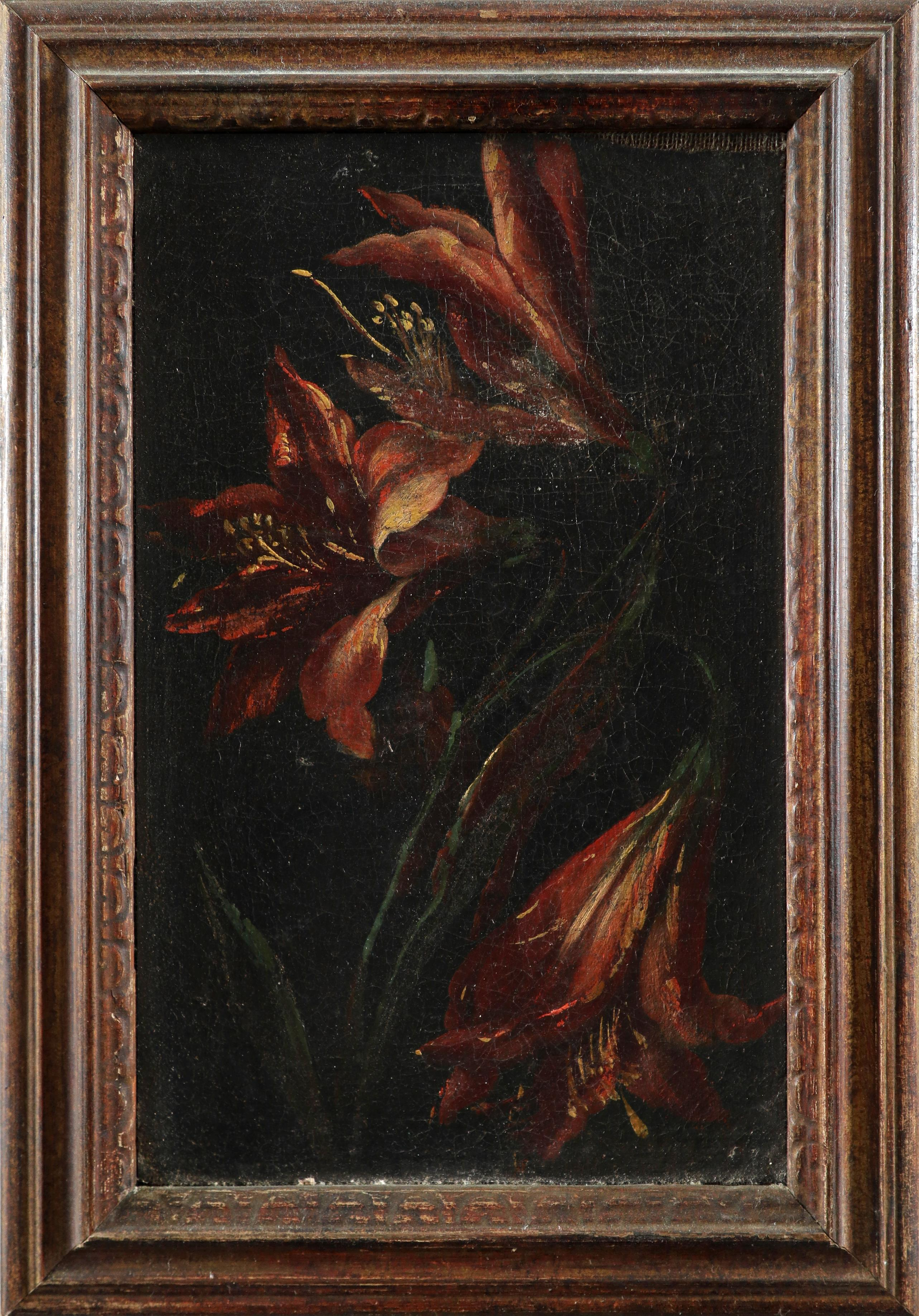 Dutch School 18th Century Study of lillies; Study of peonies A pair, both oil on canvas Each 26 x - Image 2 of 6