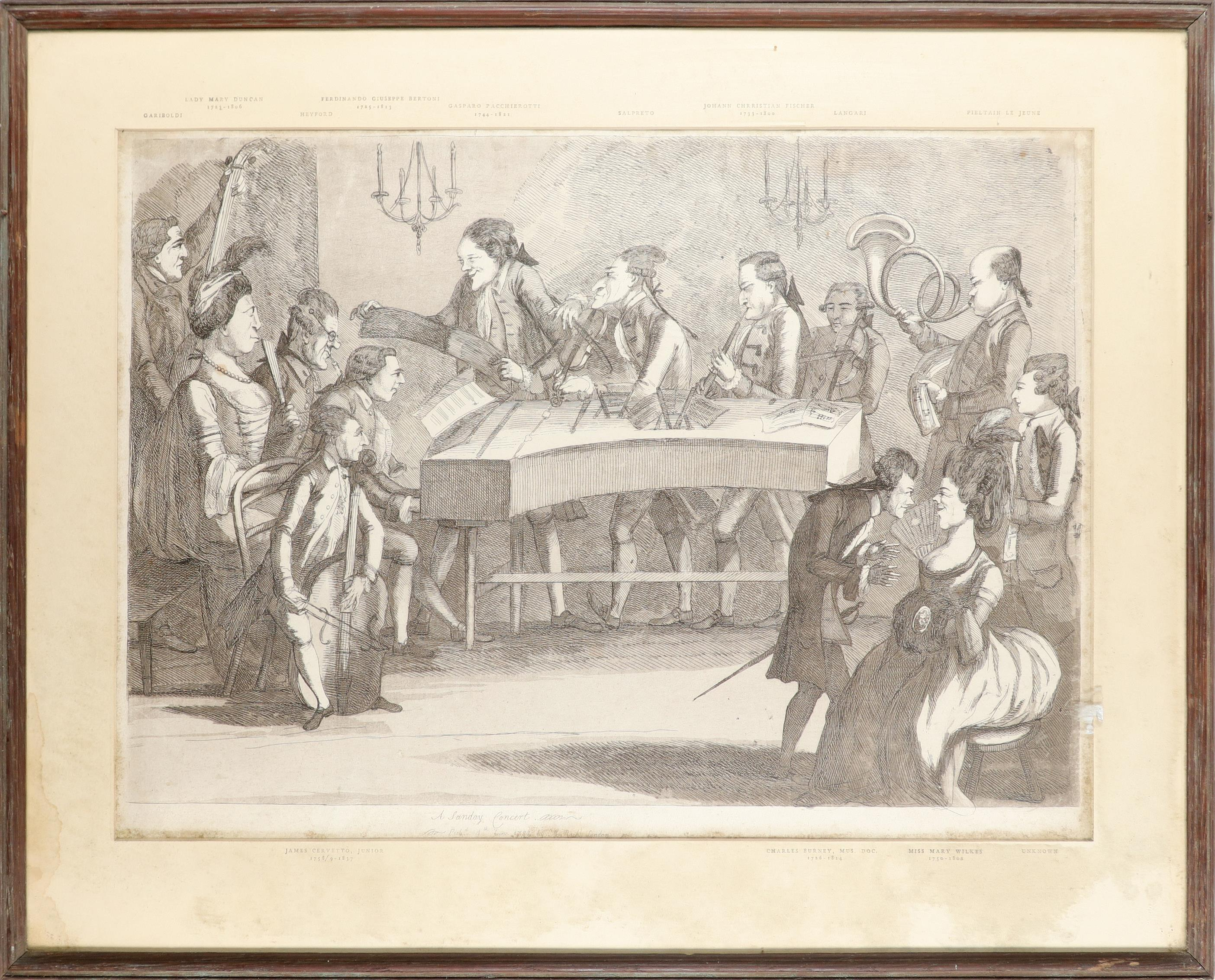 English School 1754 The Charming Brute: A Satire on Handel Etching 33.2 x 23.5cm; 13 x 9¼in ( - Image 8 of 18