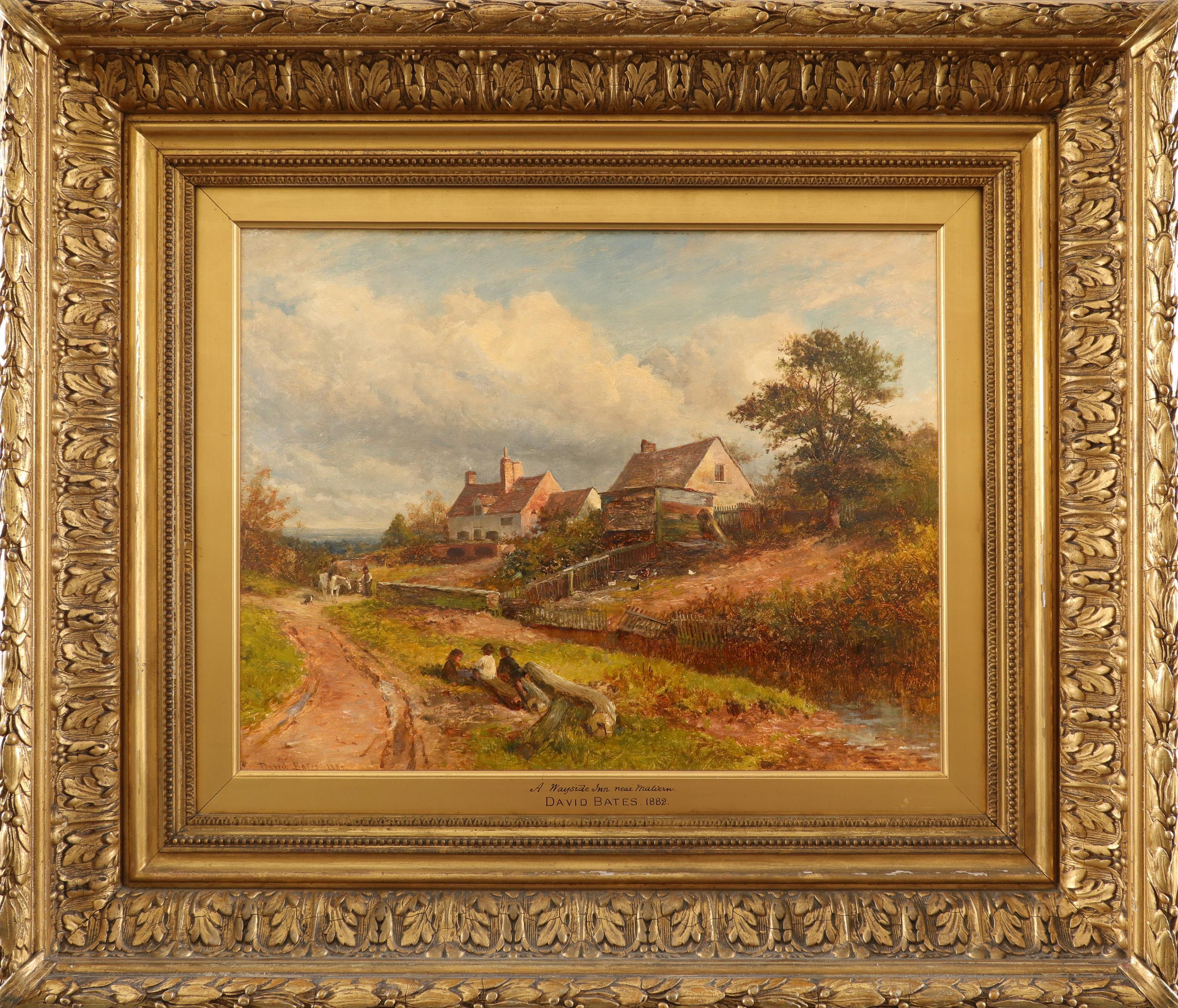 David Bates (1840-1921) A wayside inn near Malvern Signed and dated David Bates 1882 (lower left), - Image 2 of 3
