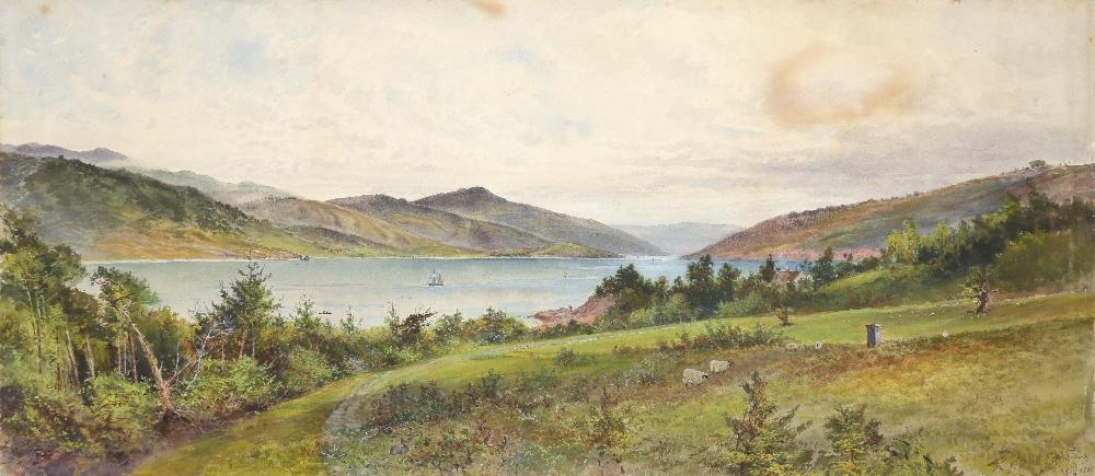 William Matthew Hodgkins (1833-1898) Glen Falloch - evening; Glen Falloch Two, the former signed - Image 4 of 6