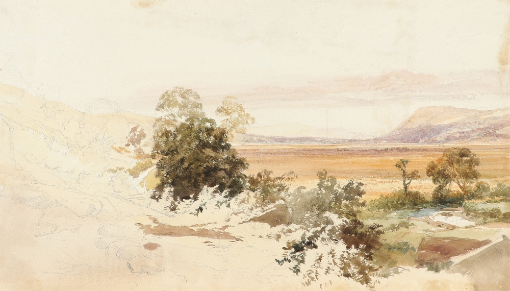 James Duffield Harding (1798-1863) Extensive landscape with mountains in the distance Watercolour
