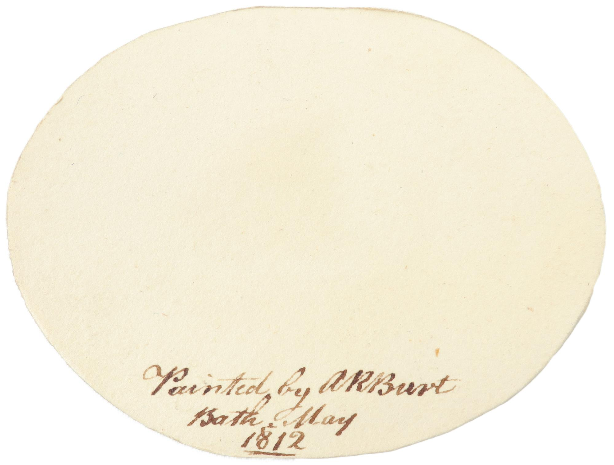 λAlbin Roberts Burt (1783-1842) Portrait of a sleeping baby Signed AR Burt (lower centre), and - Image 3 of 4