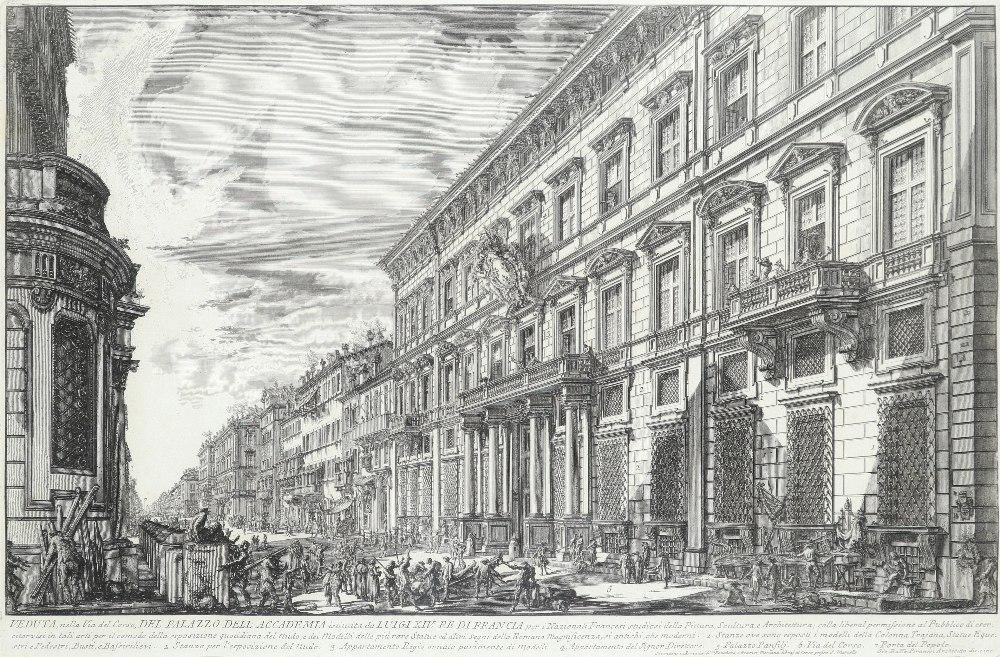 Giovanni Battista Piranesi (Italian 1720-1778) Veduta degli avanzi del Foro di Nerva (Wilton-Ely - Image 3 of 5