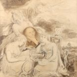 Thomas Stothard RA (1755-1834) Design for a frontispiece, with the allegories of painting, poetry