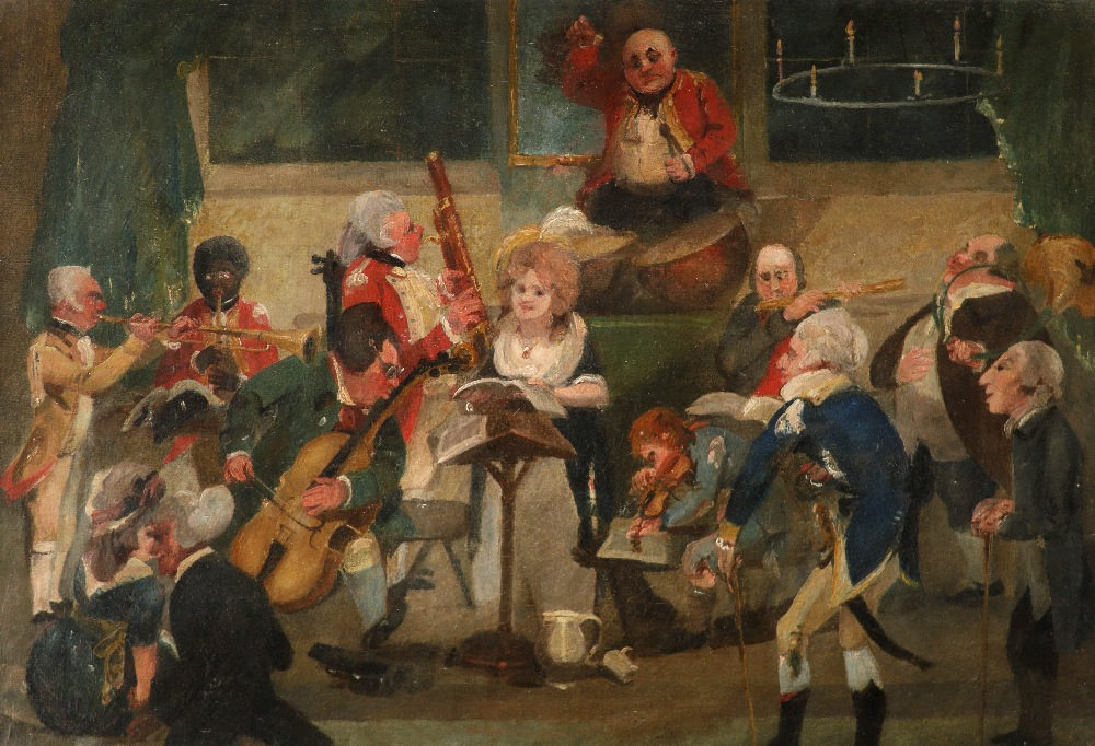 After C. L. Smith The Country Concert Oil on canvas 34.8 x 50cm; 13¾ x 19¾in Provenance: Christie's,