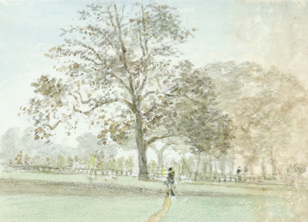 Thomas Clark (act.1827-1858) View of Kensington Gardens in 1839; and further views of London Nine,
