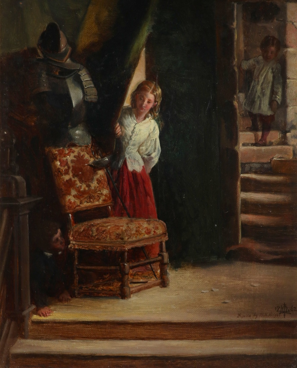 Matthew James Lawless (1837-1864) and William Henry Knight (1823-1863) Bo-Peep - Children playing