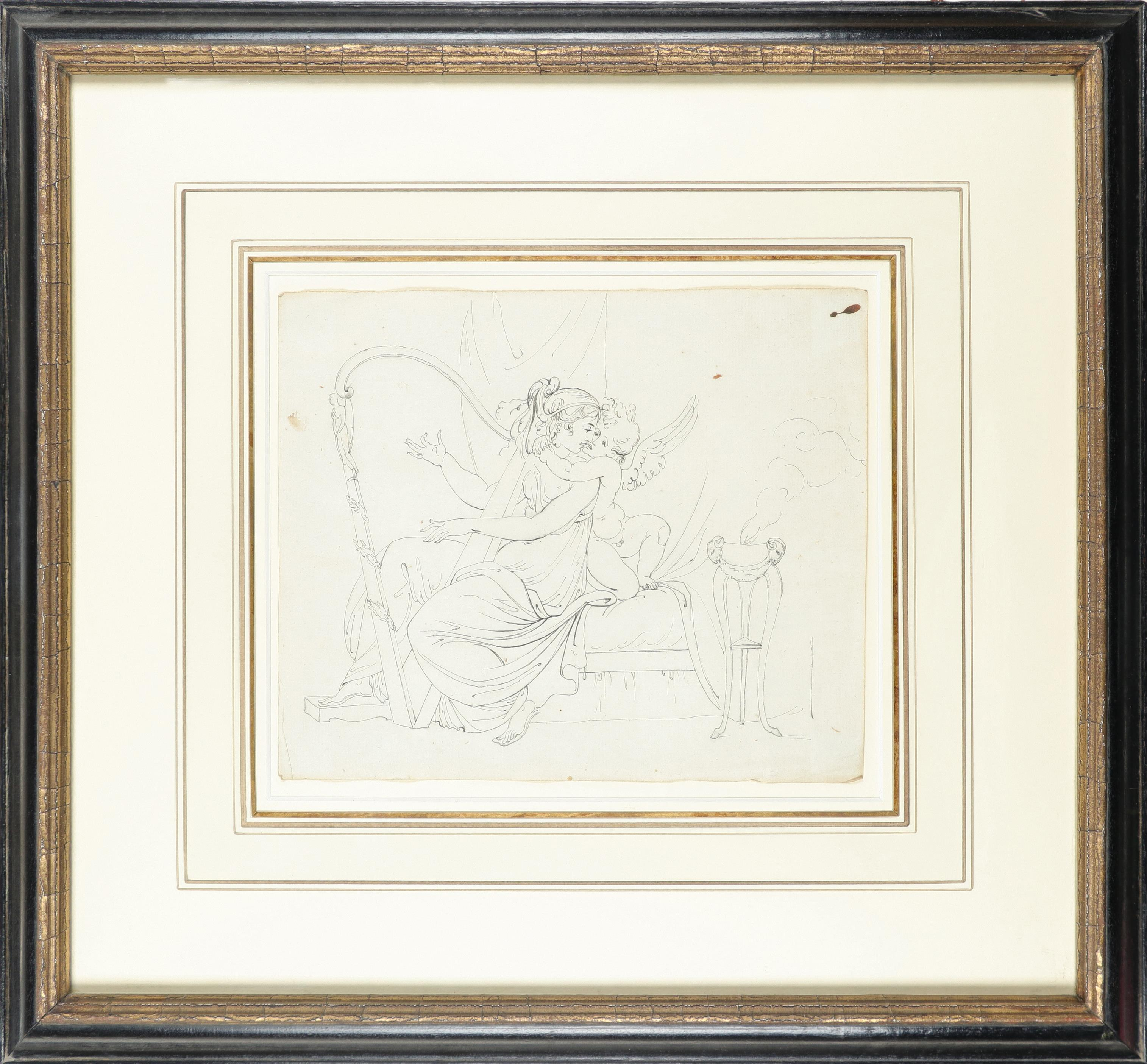 Samuel Woodforde RA (1763-1817) Victory, holding a crown and palm, with a putto; The muse - Image 5 of 9