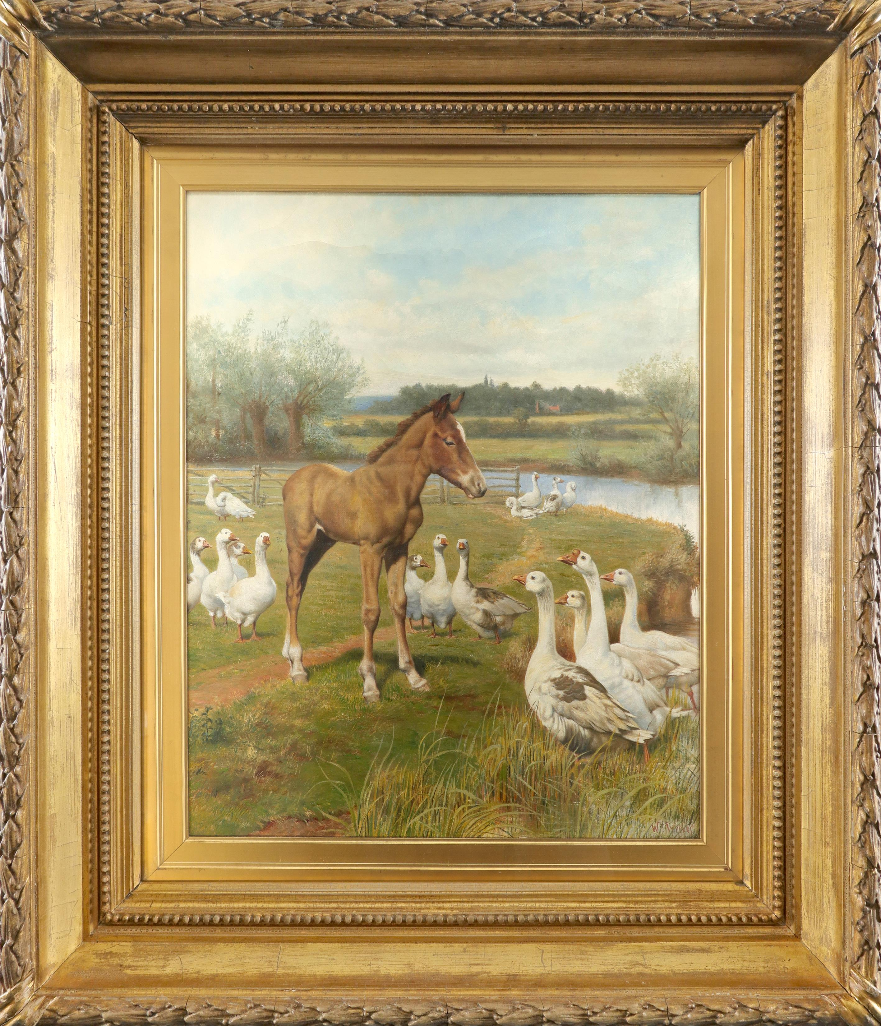 Herbert William Weekes (1841-1914) A mutual admiration Signed W Weekes (lower right) Oil on canvas - Image 2 of 3