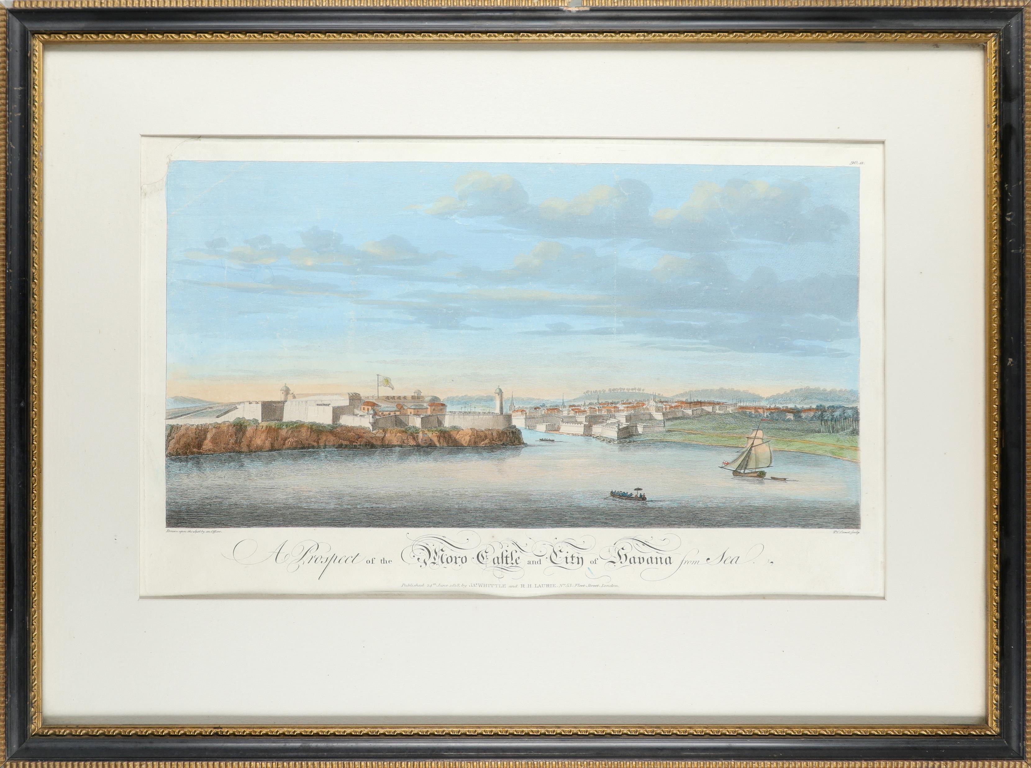 John Carwitham (act. 1723-1741) A South-East View of the City of Boston in North America Engraving - Image 8 of 9