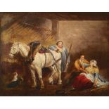 After George Morland The Country Stable Oil on canvas 64.2 x 76.4cm; 25¼ x 30in Provenance: Cochrane