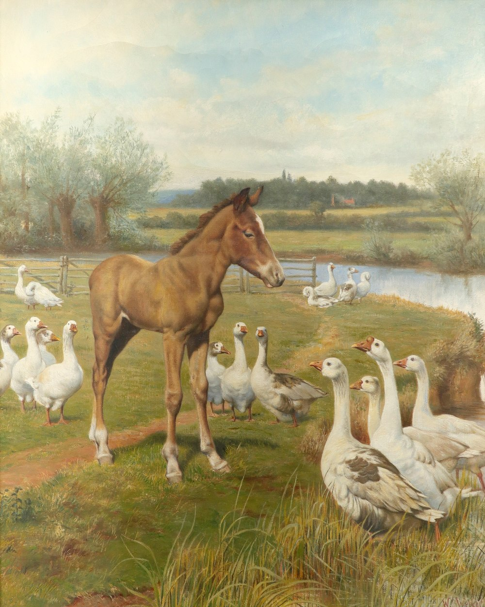 Herbert William Weekes (1841-1914) A mutual admiration Signed W Weekes (lower right) Oil on canvas