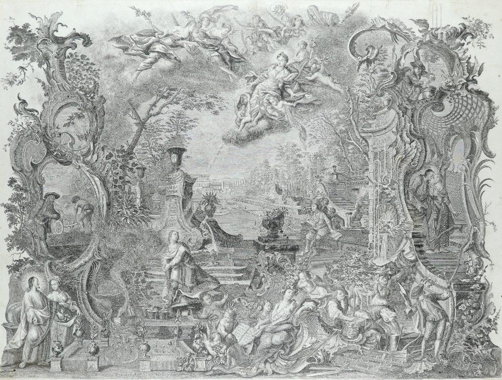 After Johann Wolfgang Baumgartner (German 1702-1761) Saint Augustine Engraving, by Johann Daniel