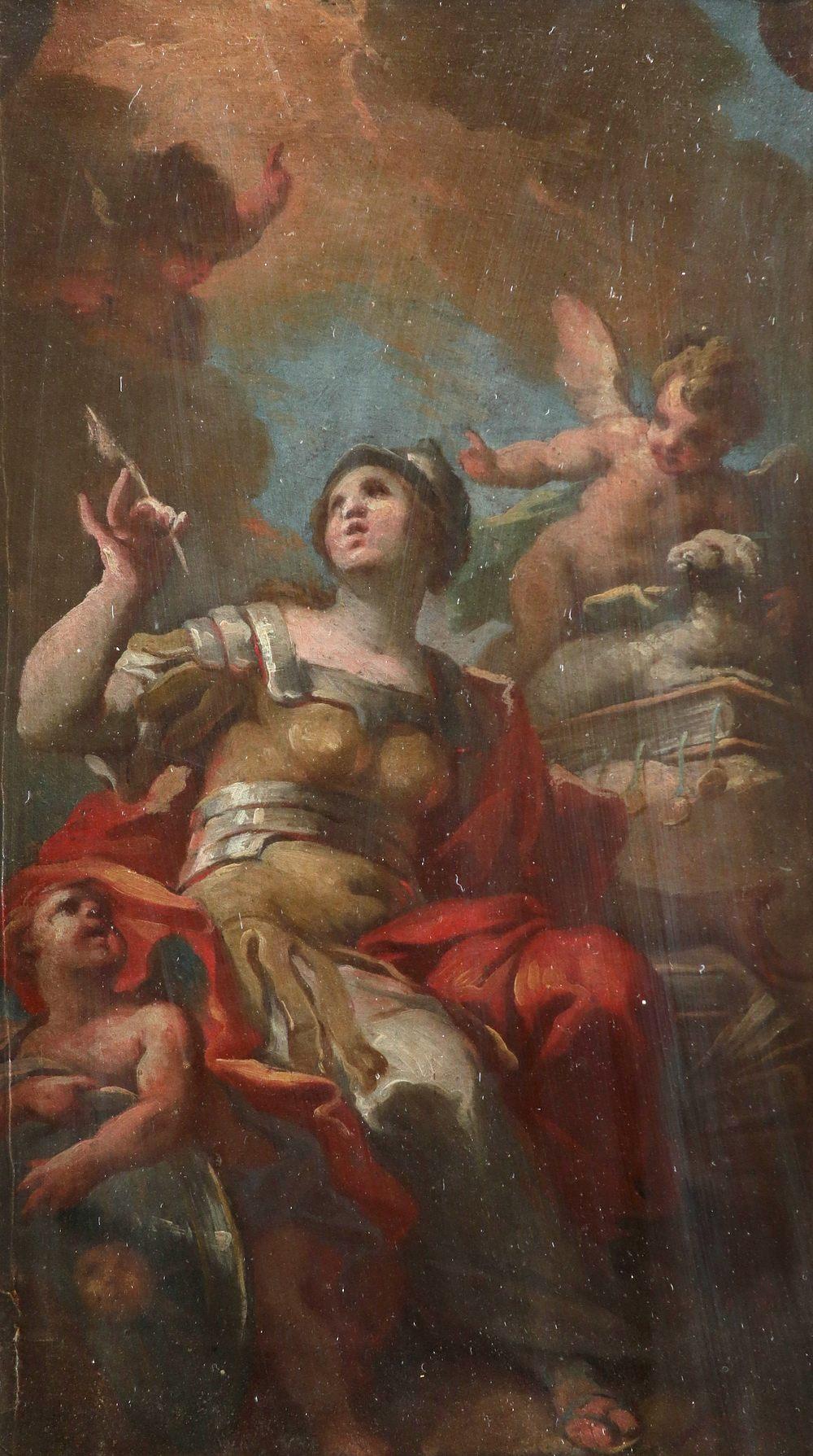Corrado Giaquinto (Italian 1703-1766) Allegory of Divine Wisdom (Divina Sapienza) Oil on paper