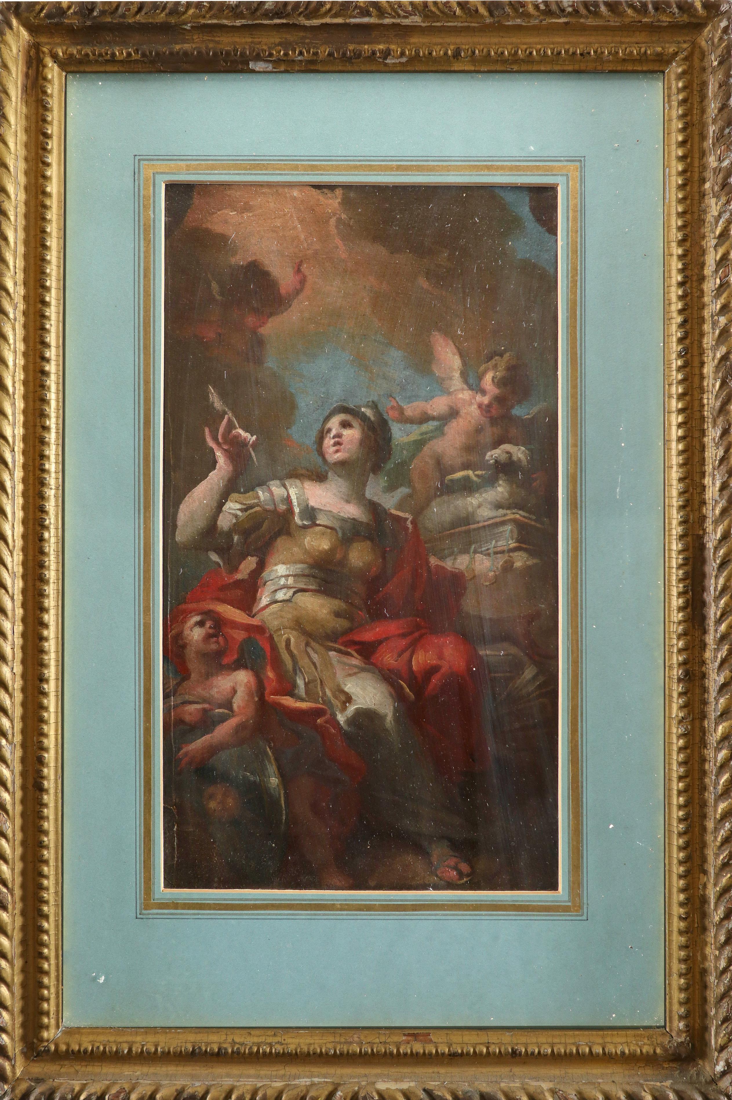 Corrado Giaquinto (Italian 1703-1766) Allegory of Divine Wisdom (Divina Sapienza) Oil on paper - Image 2 of 3