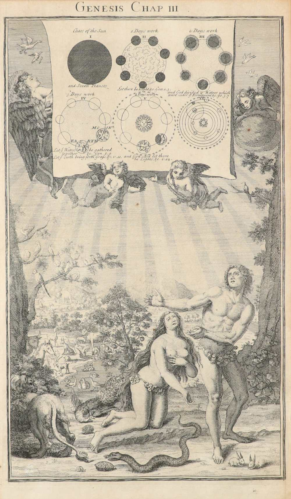 Samuel Smith (18th Century) The Creation; Adam and Eve driven out of Paradise; Cain and Abel; The