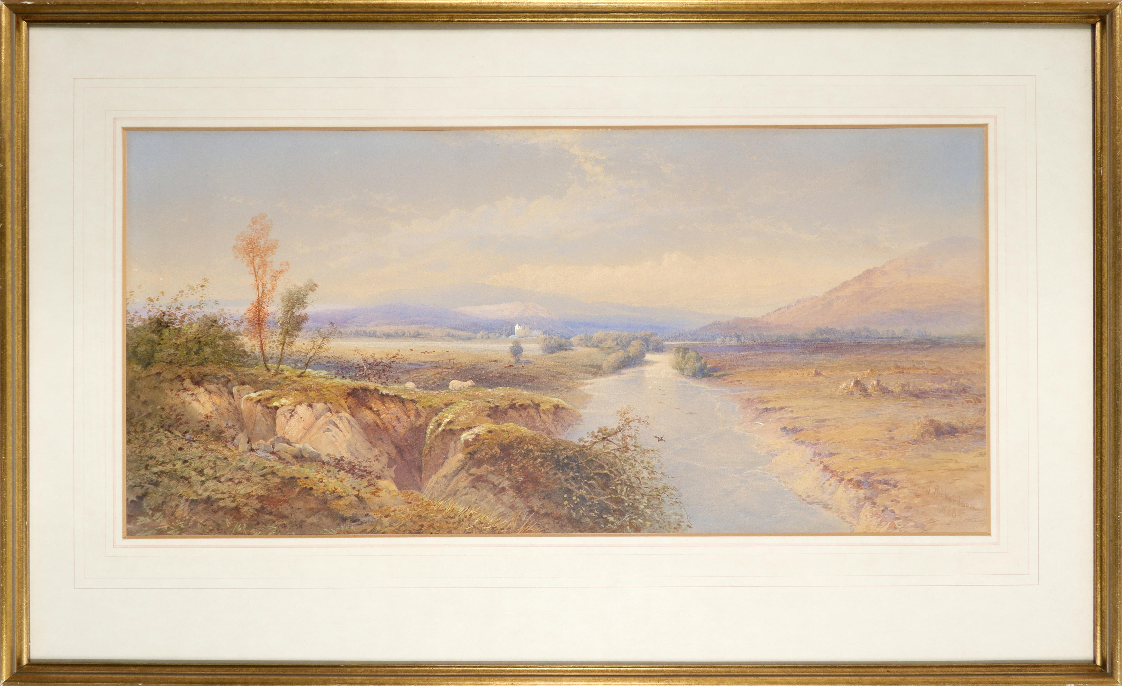 Edward M. Richardson ANWS (1810-1874) A view of Loch Awe with Kilchurn Castle in the distance Signed - Image 2 of 3