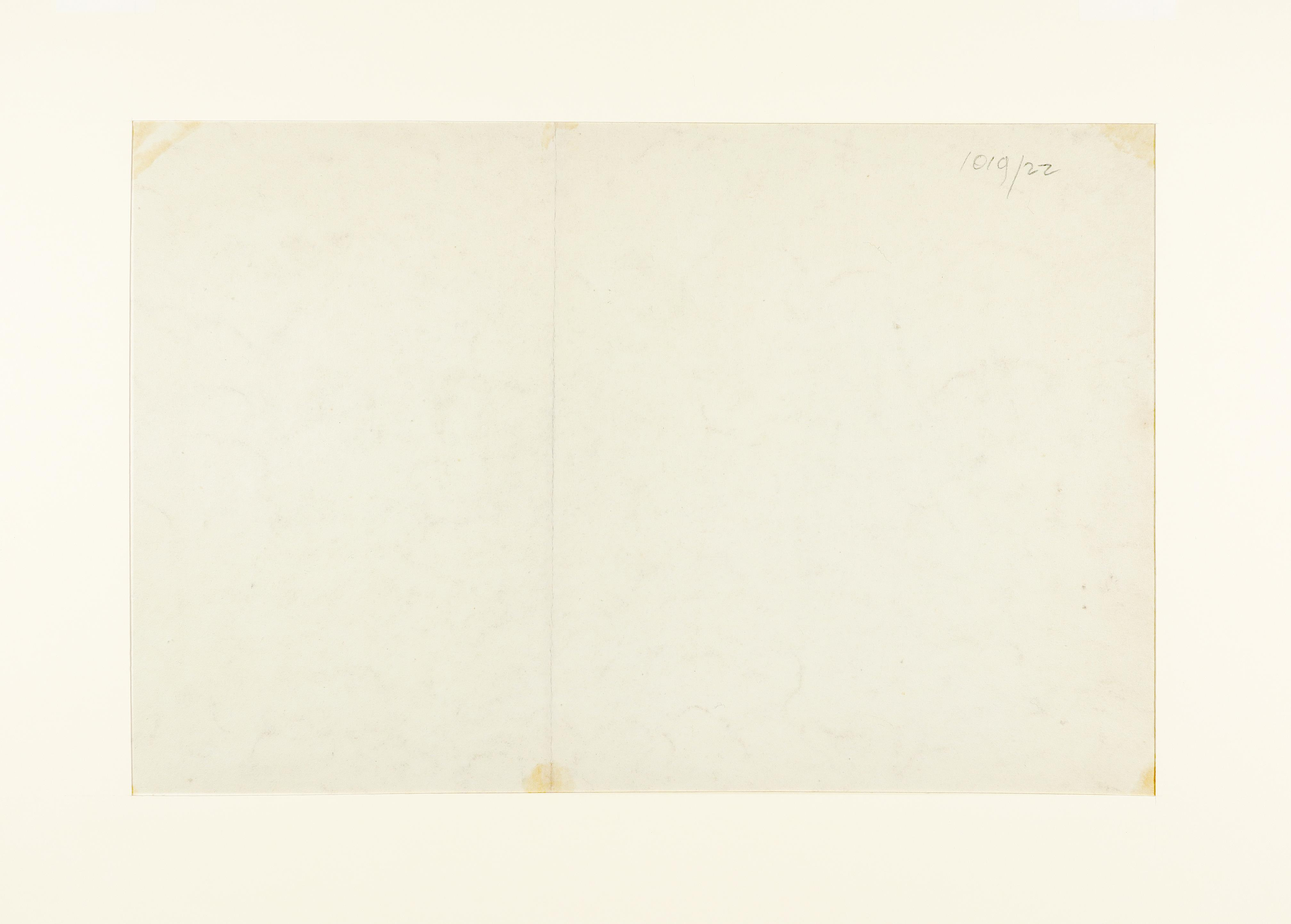 Joshua Cristall (c.1767-1847) Sketch of figures before a cottage Pencil 30 x 44cm; 11¾ x 17¾in - Image 3 of 3
